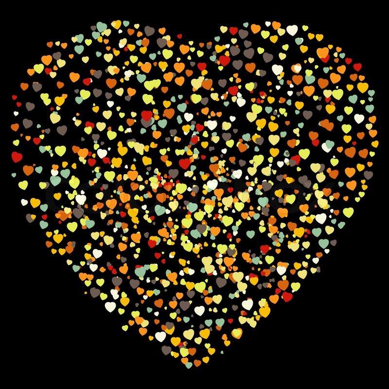 Schne bunte Herzform Hintergrund  Vektorgrafik  Colourbox