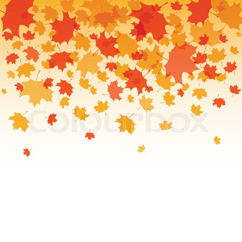 Fall Leaves Pictures Wallpaper Thanksgiving Background Vector Stock Vector Colourbox