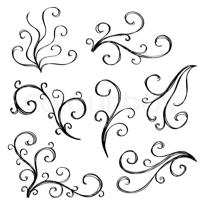 Floral Decorative Element For Corner Design Stock Vector