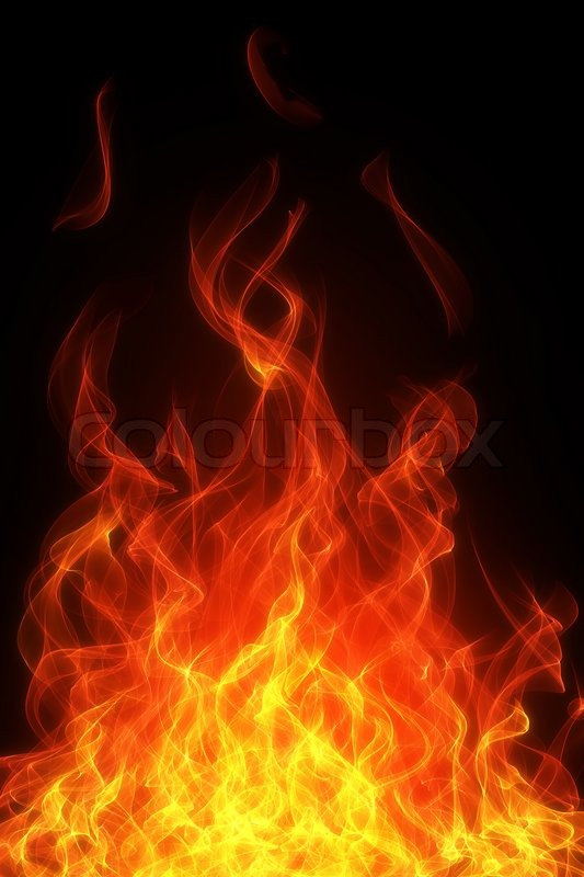 burning fire and flame