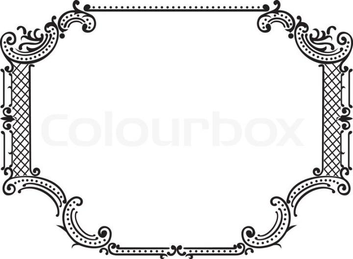 3480ee2f2a1f Simple Ornamental Decorative Frame Stock Vector Colourbox - Amatcard.co