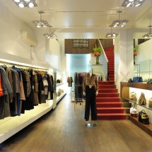 Interior Of Boutique Store With . Stock