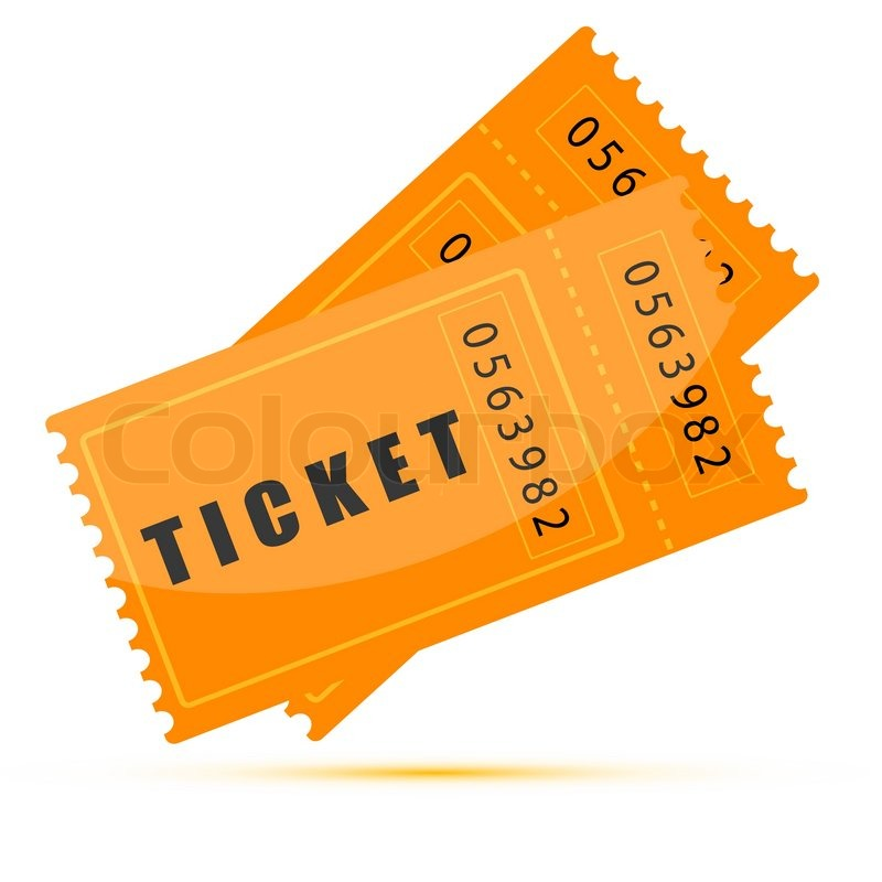 Illustration Of Movie Tickets On White Background Stock