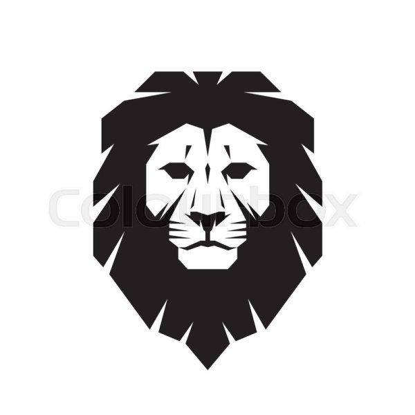 Lion Head - Vector Logo Template . Stock