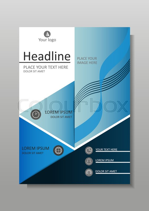 Blue A4 Business Book Cover Design Template Good For