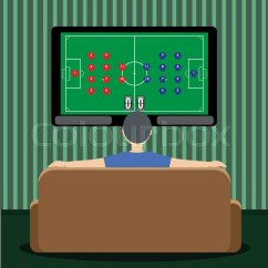 Modern Sofa Plans Free Best Way To Clean A Fabric Covered Man On At Home And Watching Football Or Soccer Game ...