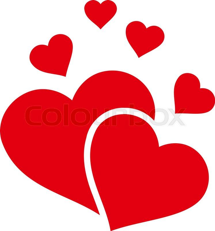 lovely hearts flat icon