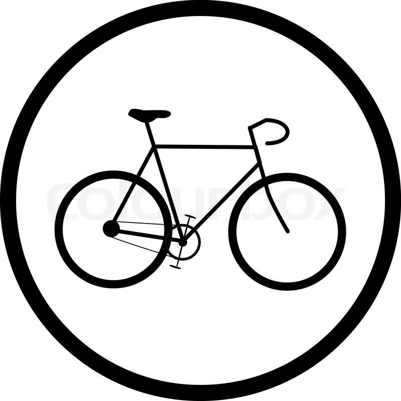 Vektor Ikon Af Cykel