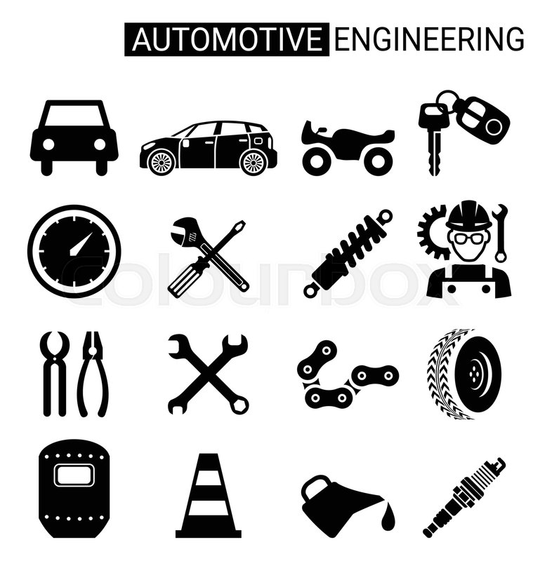 Set of automotive engineering icon design for automotive
