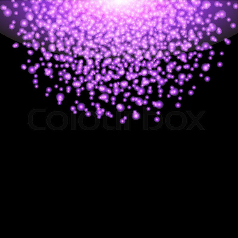 Falling Glitter Wallpaper Falling Glow Purple Particles On Black Stock Vector