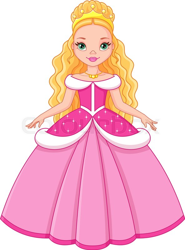 Little Girl Sleeping Wallpaper Cinderella Princess Pink On A White Background Stock