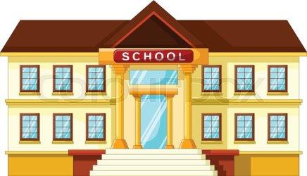 Vector illustration of school building Stock vector Colourbox