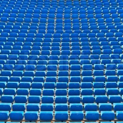 Chair Ball Game Office Buy Online Row Of Seats The Soccer Stadium   Stock Photo Colourbox