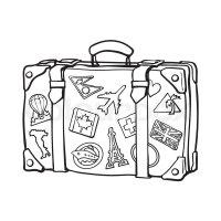 Koffer, grob, design   Vektorgrafik   Colourbox