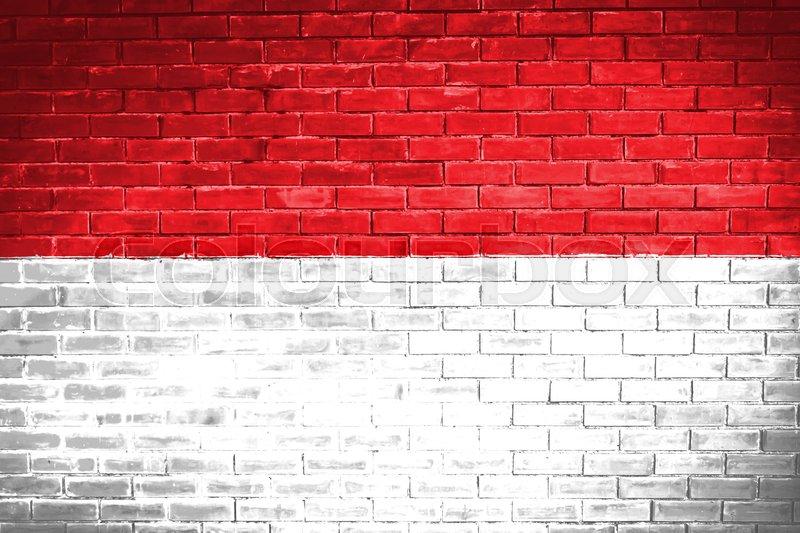 Indonesia flag  wall texture   Stock Photo  Colourbox