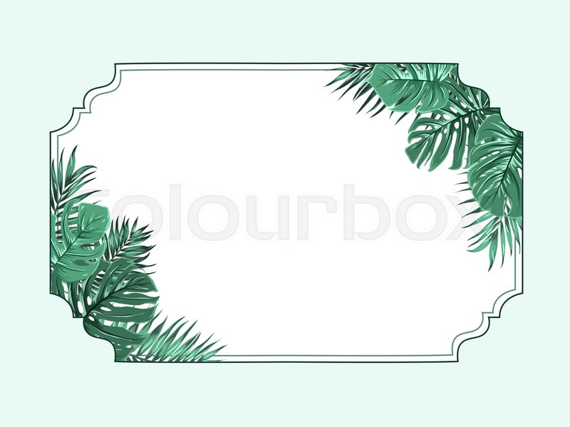 Exotic Tropical Decorative Horizontal Border Frame