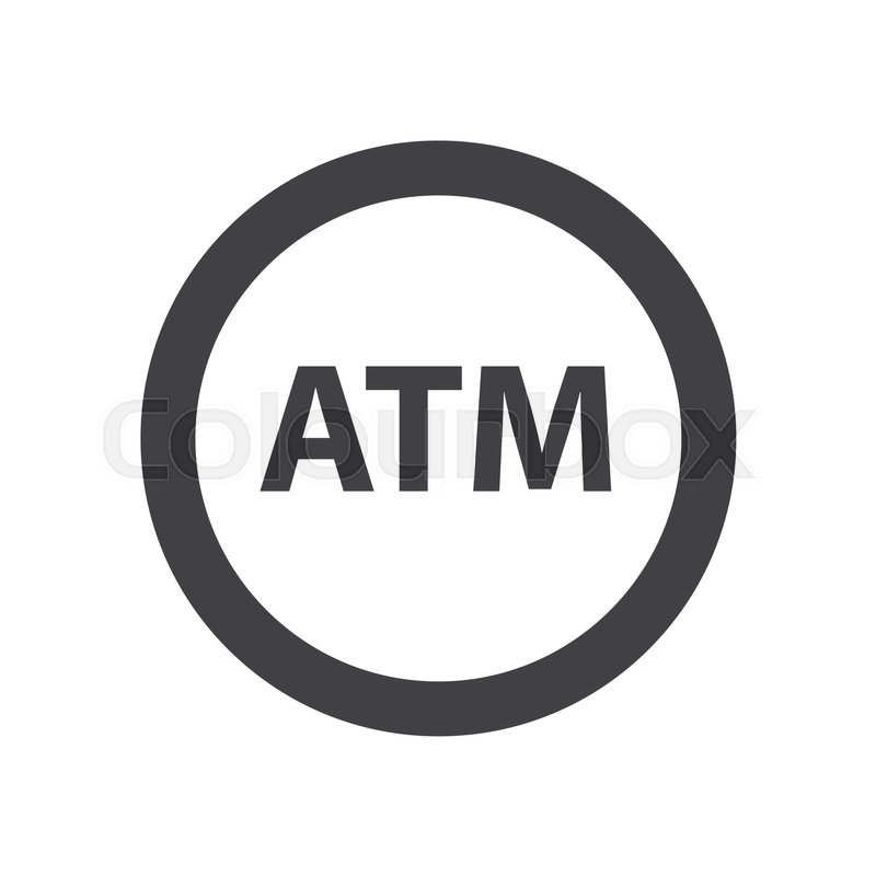 ATM Symbol Icon Design  Stock vector  Colourbox
