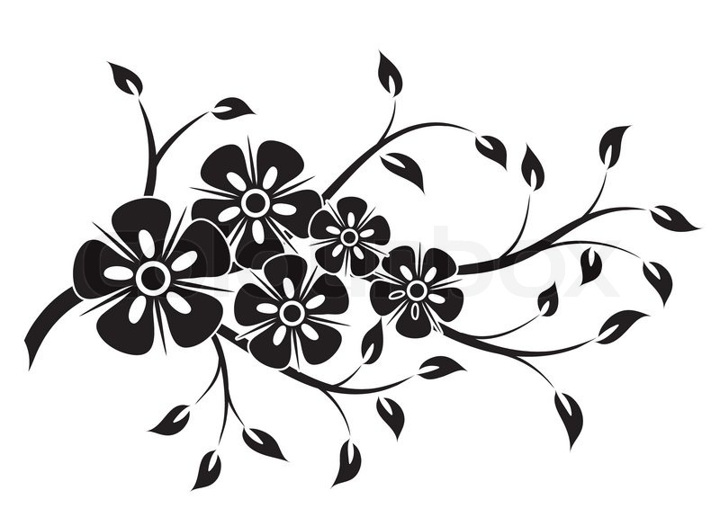 decorative floral element for
