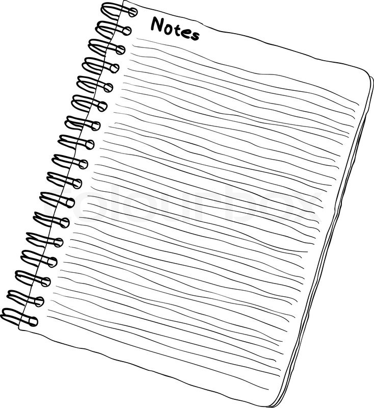doodle notebook black and