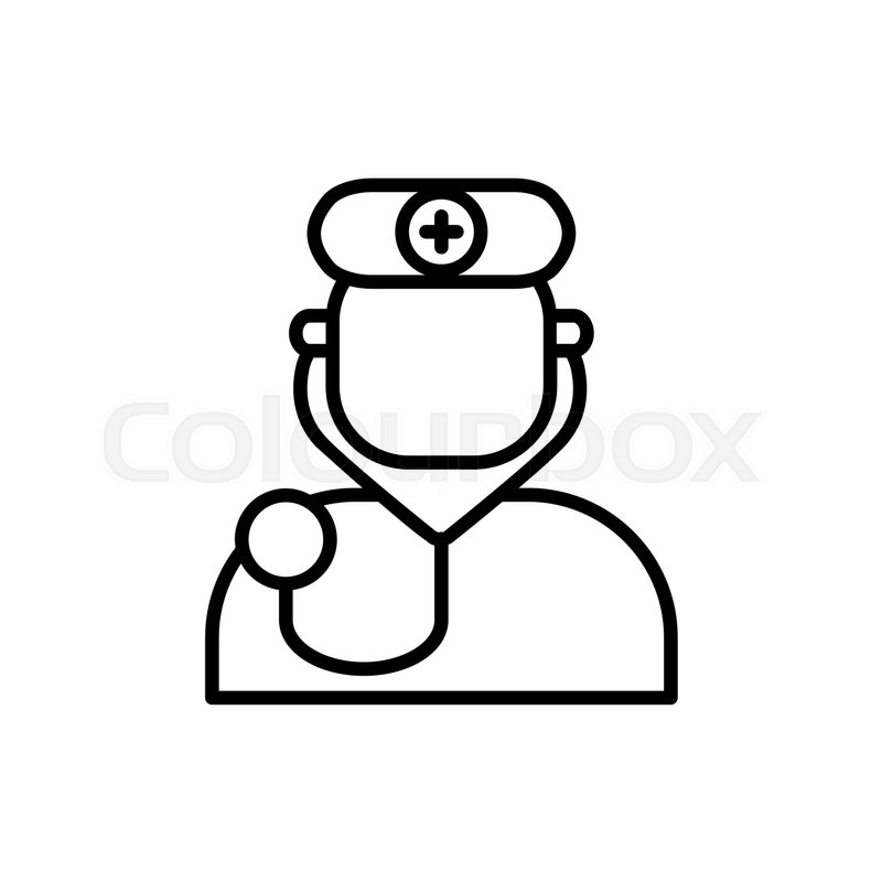Doctor avatar vector icon on white background. Hospital