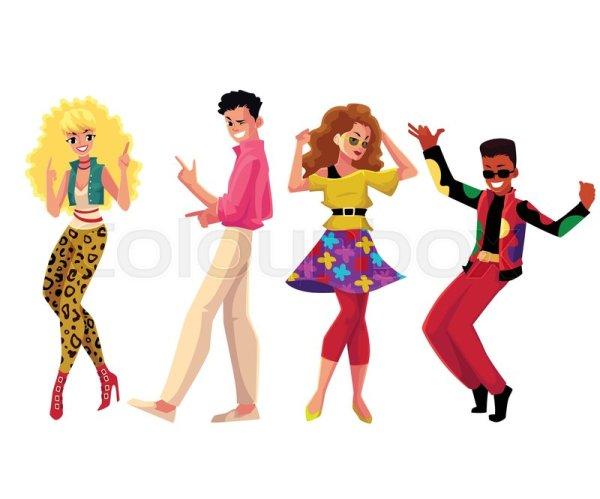 people in 1980s eighties style