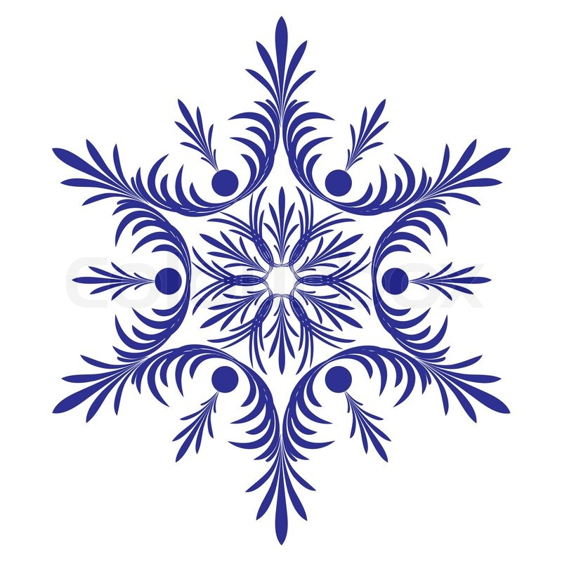 Decorative snowflake Vector  Stock Vector  Colourbox