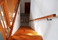 Interior - wood stairs and handrail | Stock Photo | Colourbox