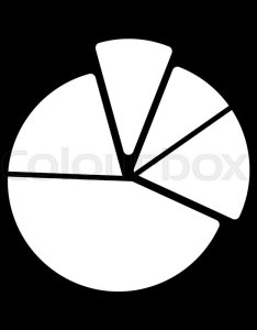 Pie chart diagram vector icon black and white graphic illustration solid linear analytical eps stock colourbox also rh