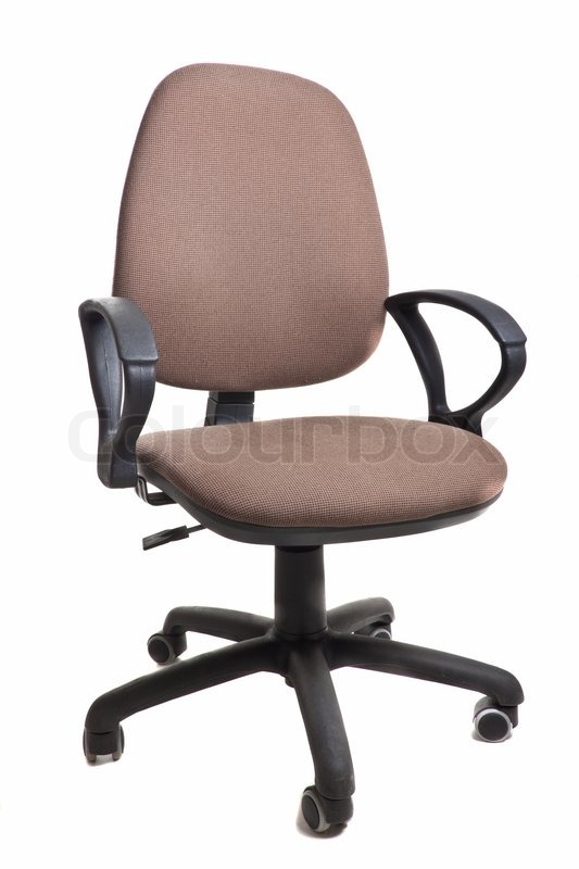 chair on wheels white glider office isolated object stock photo colourbox