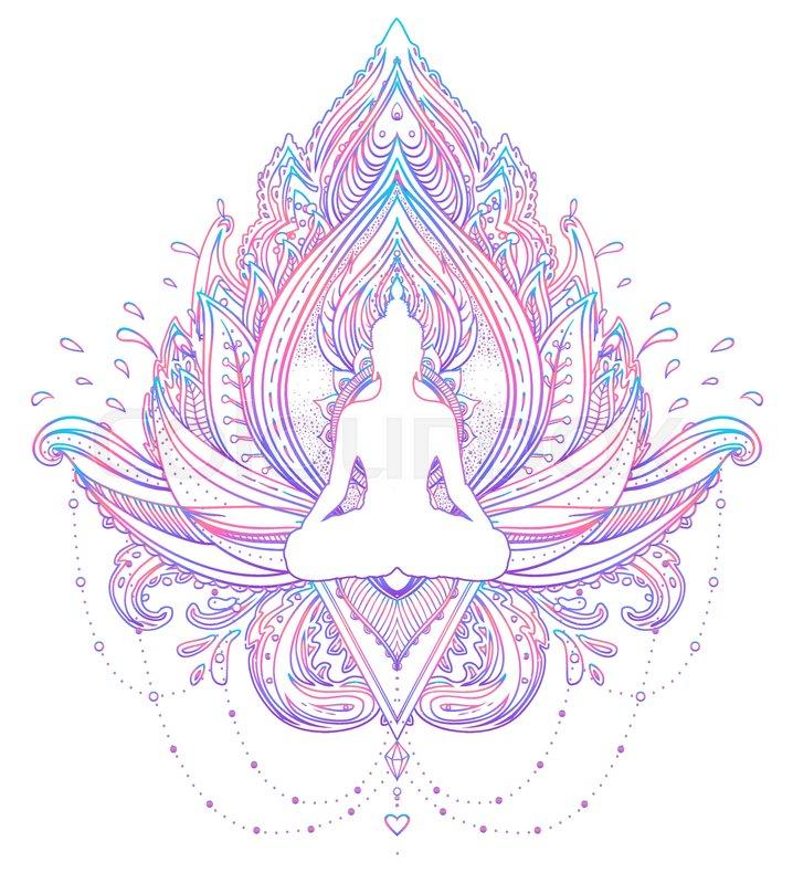 Lotus Flower Symbol Buddhism Usubw Traceable Flower Patterns