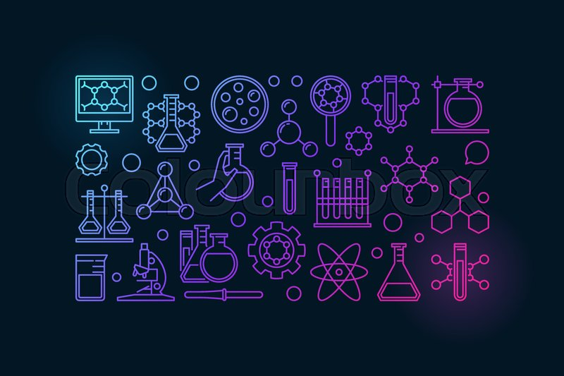 Colorful Chemistry Banner Vector Stock Vector