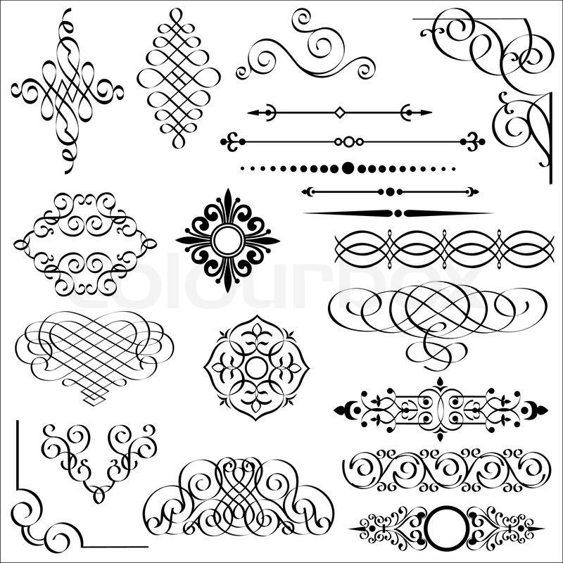 Vector Reihe von kalligraphischen Design-Elemente