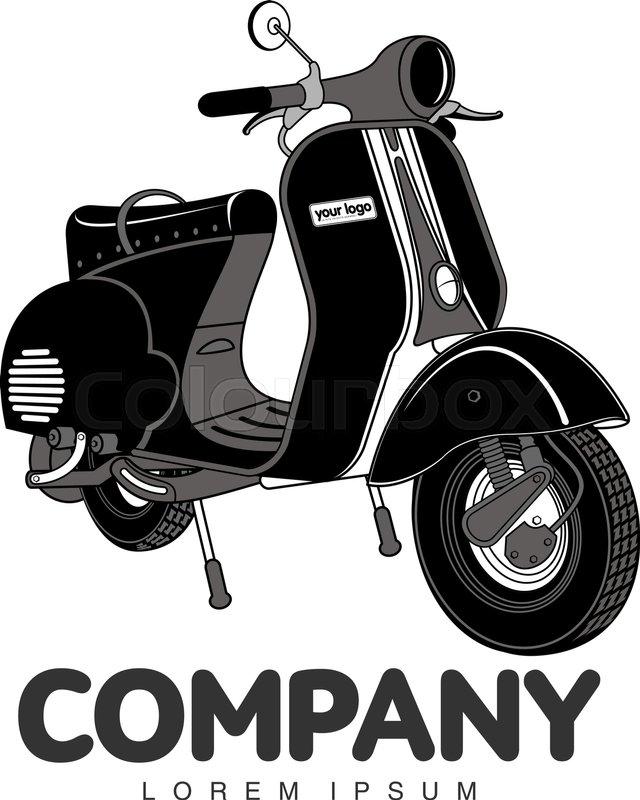 Vespa Logo Vector : vespa, vector, Elegant, Vintage, Scooter, Stock, Vector, Colourbox