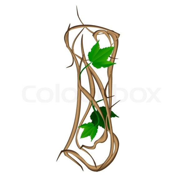 One letter of the alphabet vector tree branches | Stock ...