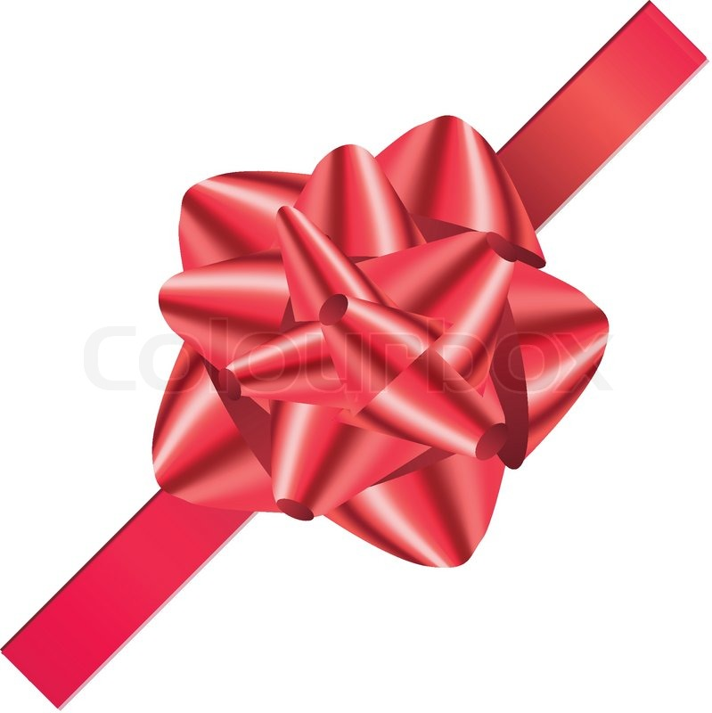 Christmas Bow Red Material Knot Big Shiny Celebrate