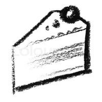 Kreide - zeichnete Stck Kuchen | Stockfoto | Colourbox