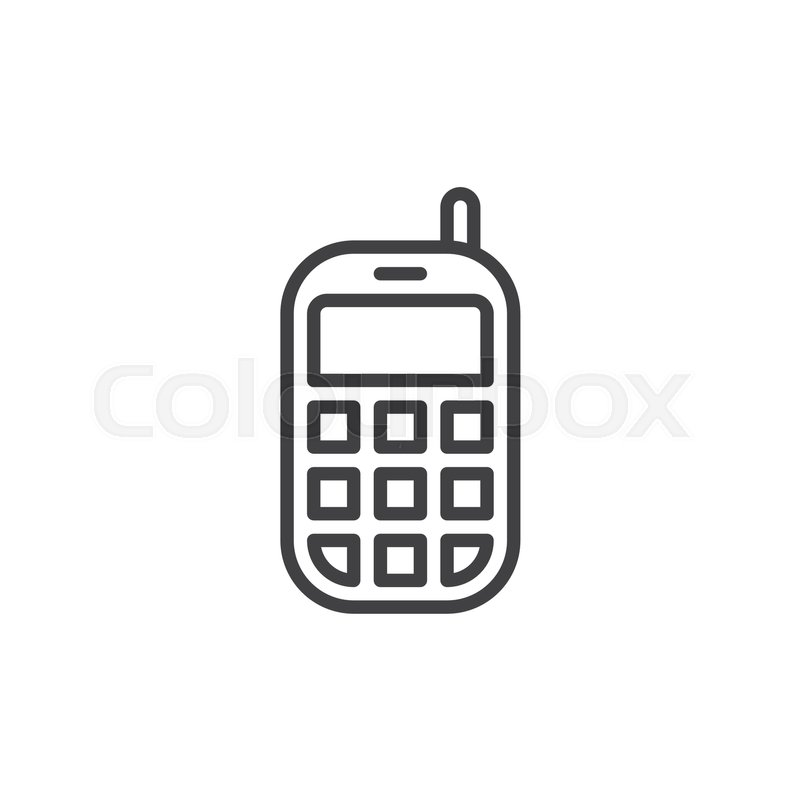 Mobile phone line icon, outline vector sign, linear style