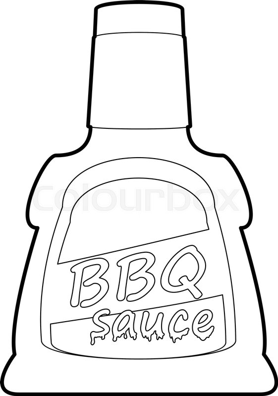 Barbecue sause icon in outline style isolated on white