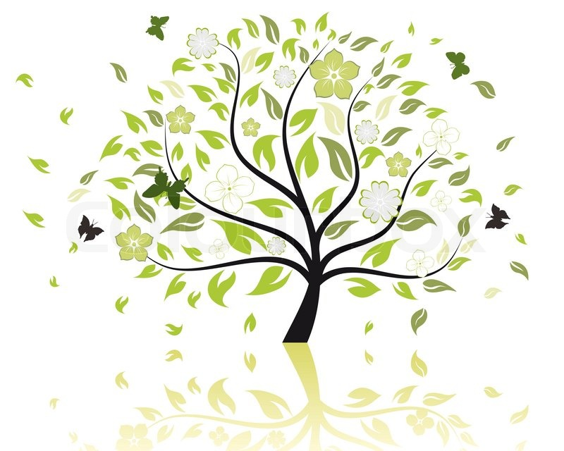 Autumn Tree Leaf Fall Animated Wallpaper Vector Illustration Of Tree With Stock Vector