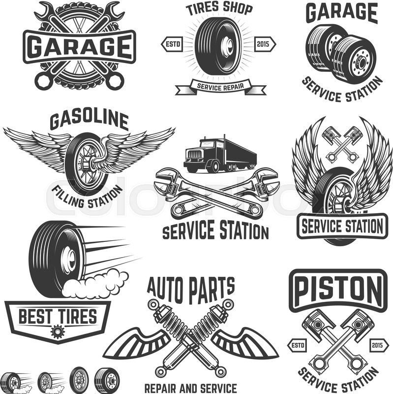 Garage, service station, auto parts store, filling station