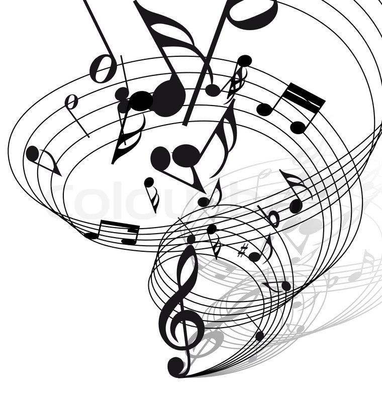Musical Staff Stock Vector Illustration Of Lines Curves