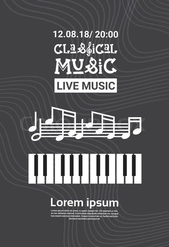 Jazz Festival Live Music Concert   Stock Vector  Colourbox