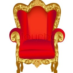 Gold Velvet Chair Diy Bean Bag Filling Illustration Old Red With ... | Stock Vector Colourbox