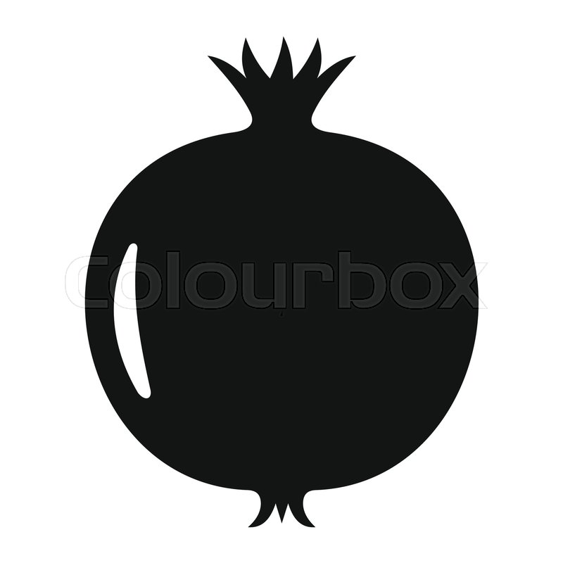 pomegranate in black simple