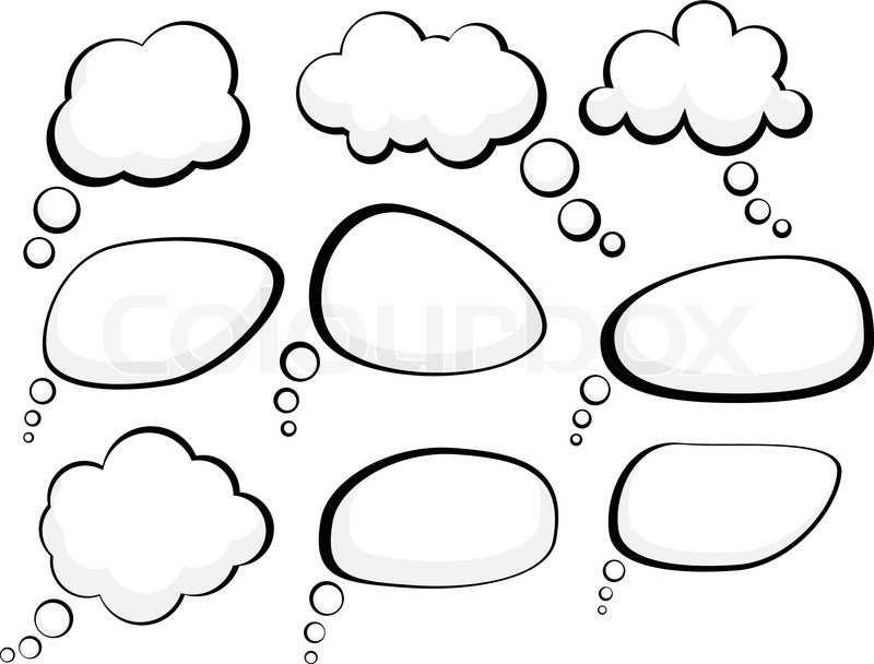 Set of comic style speech bubbles Vector illustration