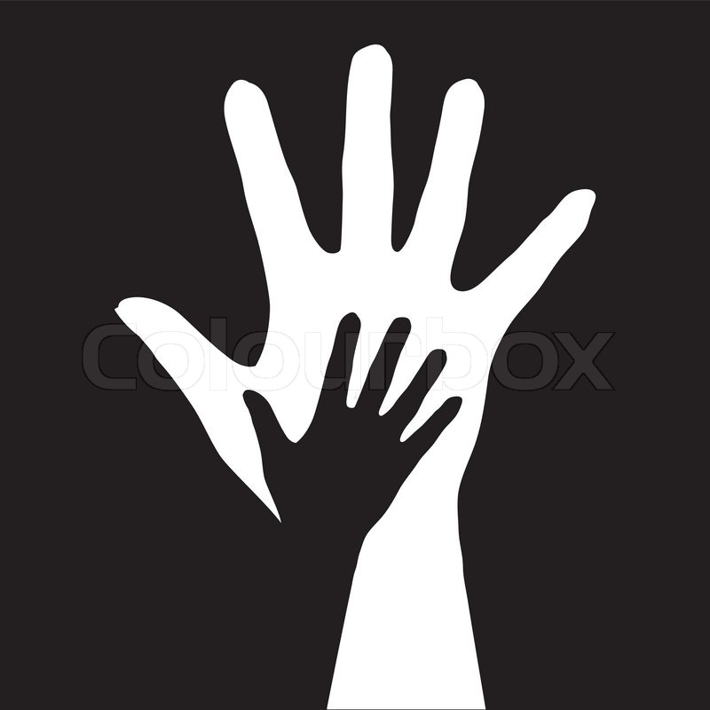 Hands Reaching Logo Out Two