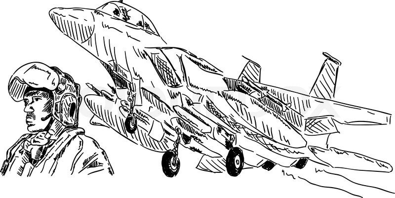Air Force Plane Drawing