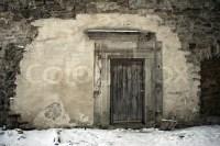 Ancient door in the castle | Stock Photo | Colourbox