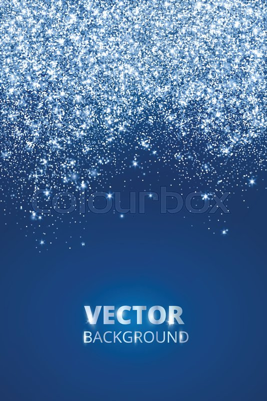 Falling glitter confetti snow Vector dust explosion on