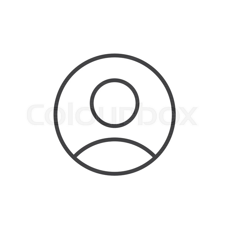 User person line icon, outline vector sign, linear style